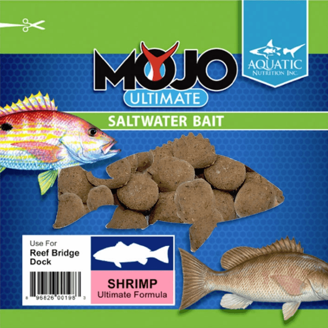 Aquatic Nutrition Mojo Soft Bait - Shrimp Flavor - 8oz. Pouch - The BallyHoop