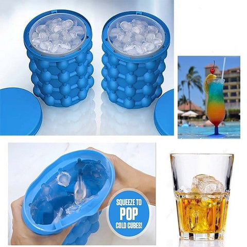 New Space Saving Ice Cubes Maker Ice Genie Kitchen Tools  Ice Genie Ice Cream Tubs Drink Holder Bottles ZU