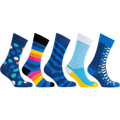 Men'S 5-Pair Colorful Mix Socks-3040