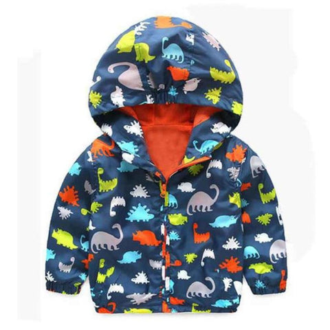 Boys Windbreaker Dinosaur Jacket