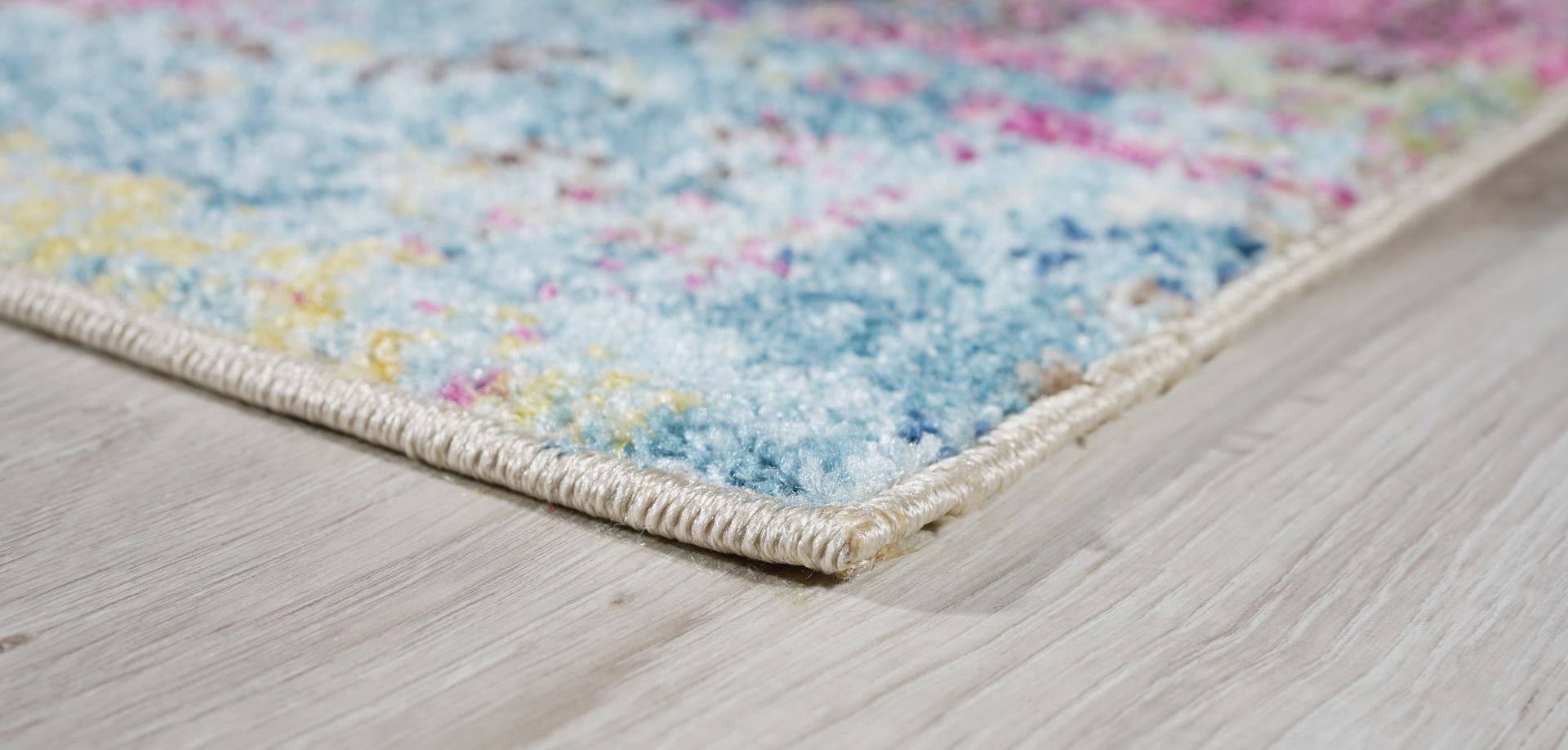 Lounge Contemporary Living Room Rug | Non Slip Blue Pink Large Area ...