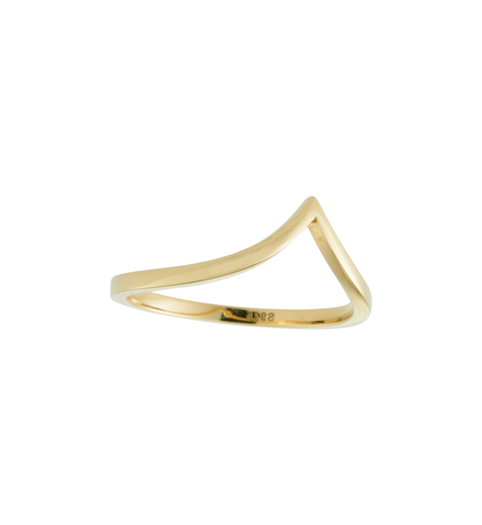 Chevron Ring ~ (18K Gold Vermeil)