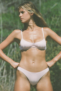 Cove Bra Bikini ~ Powder Pink