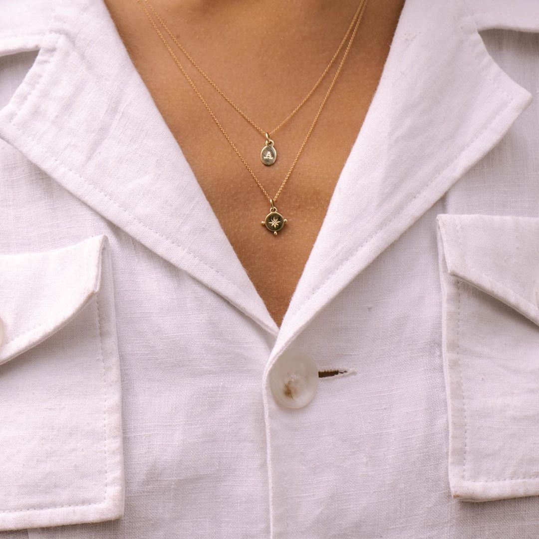Diamond Voyager Coin Necklace ~ (18K Gold Vermeil)