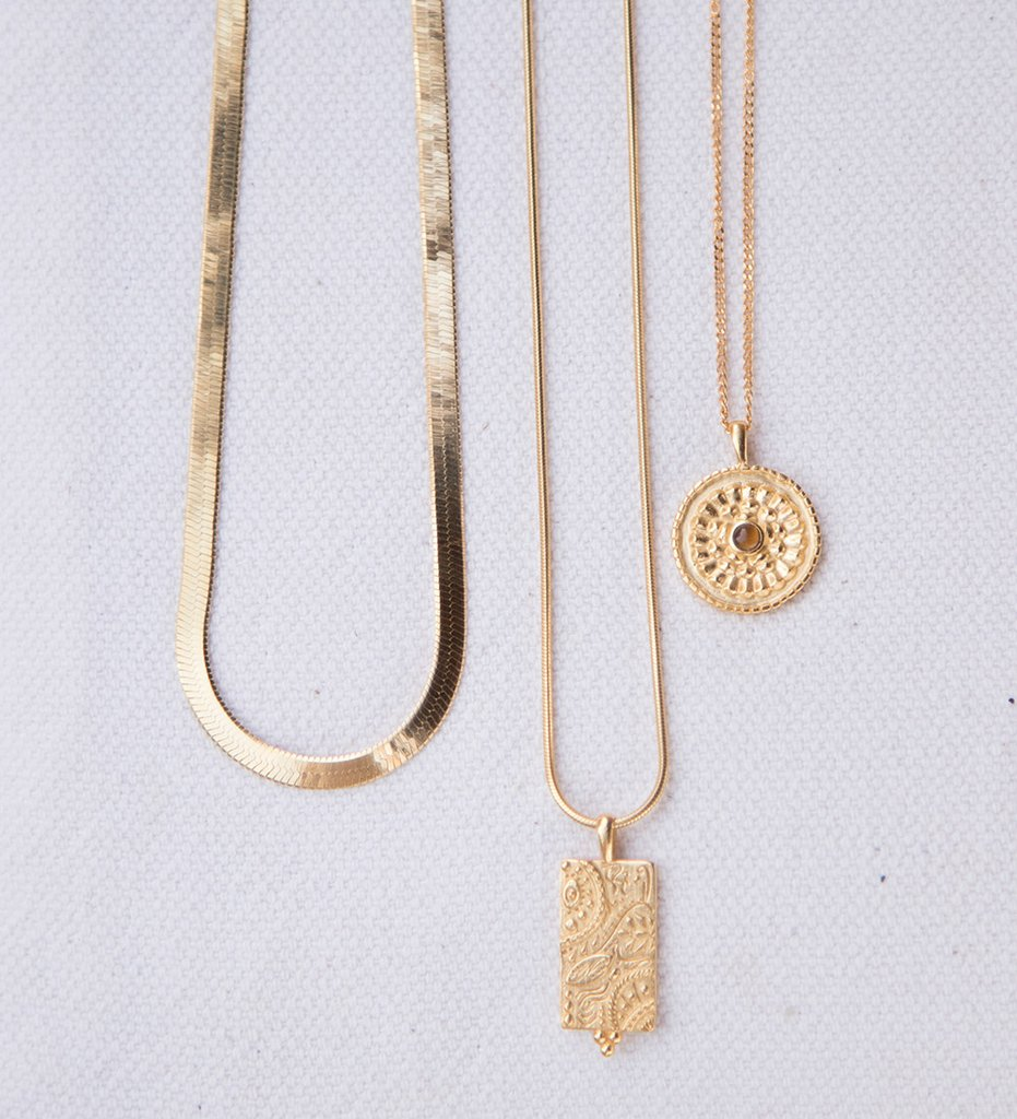 Herringbone Chain ~ (18K Gold Vermeil)