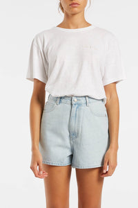 The Mom Short ~ Washed blue