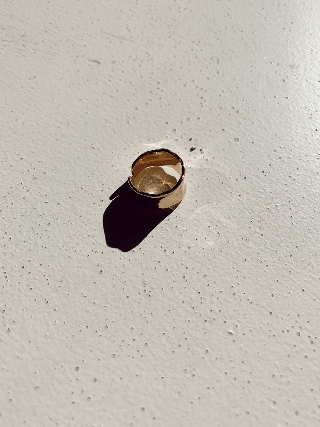 Rosie Hammered Gold Ring
