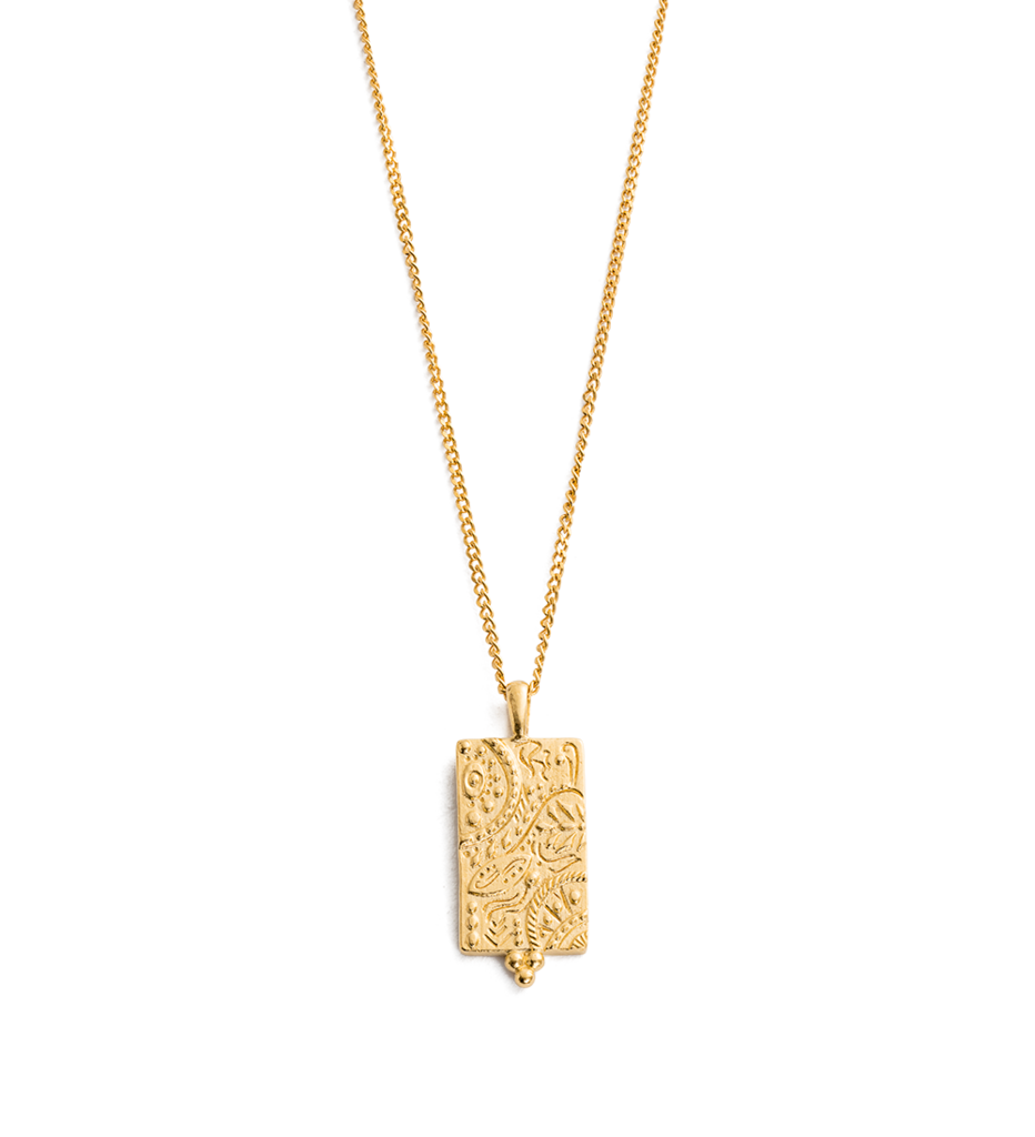 Marrakech Coin Necklace ~ (18K Gold Vermeil)
