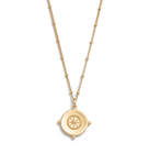 Sail Away Coin Necklace ~ (18K Gold Vermeil)