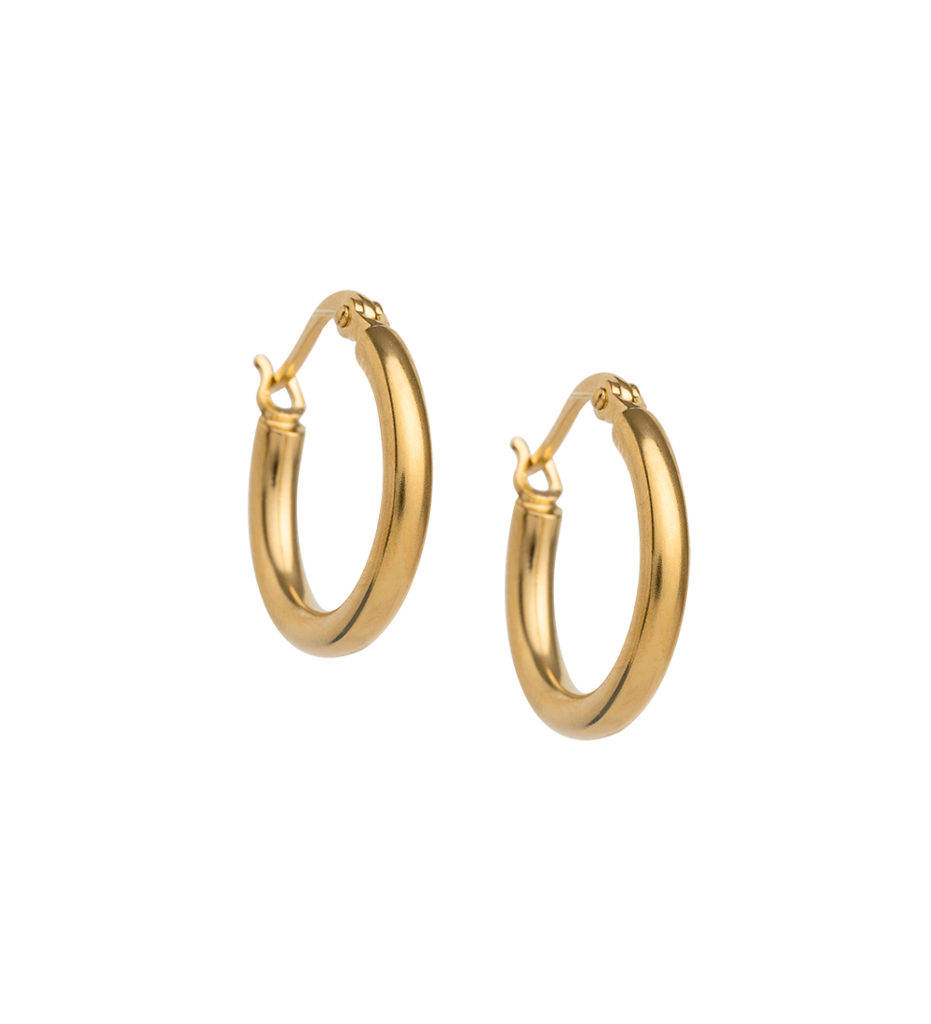 Tidal Hoops Small ~ (18K Gold Plated)