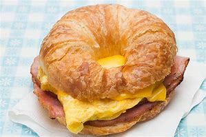 Croissant sandwich - Meat, Egg, Cheese