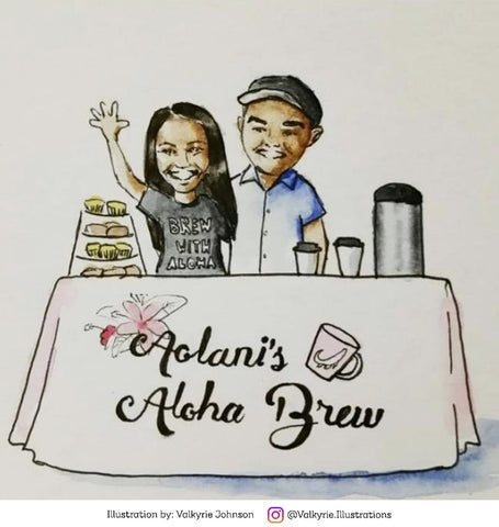 Aolani's Aloha Brew Illustration by Valkyrie Johnson