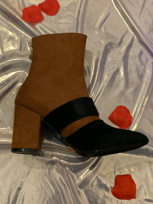 Black and Brown Booties
