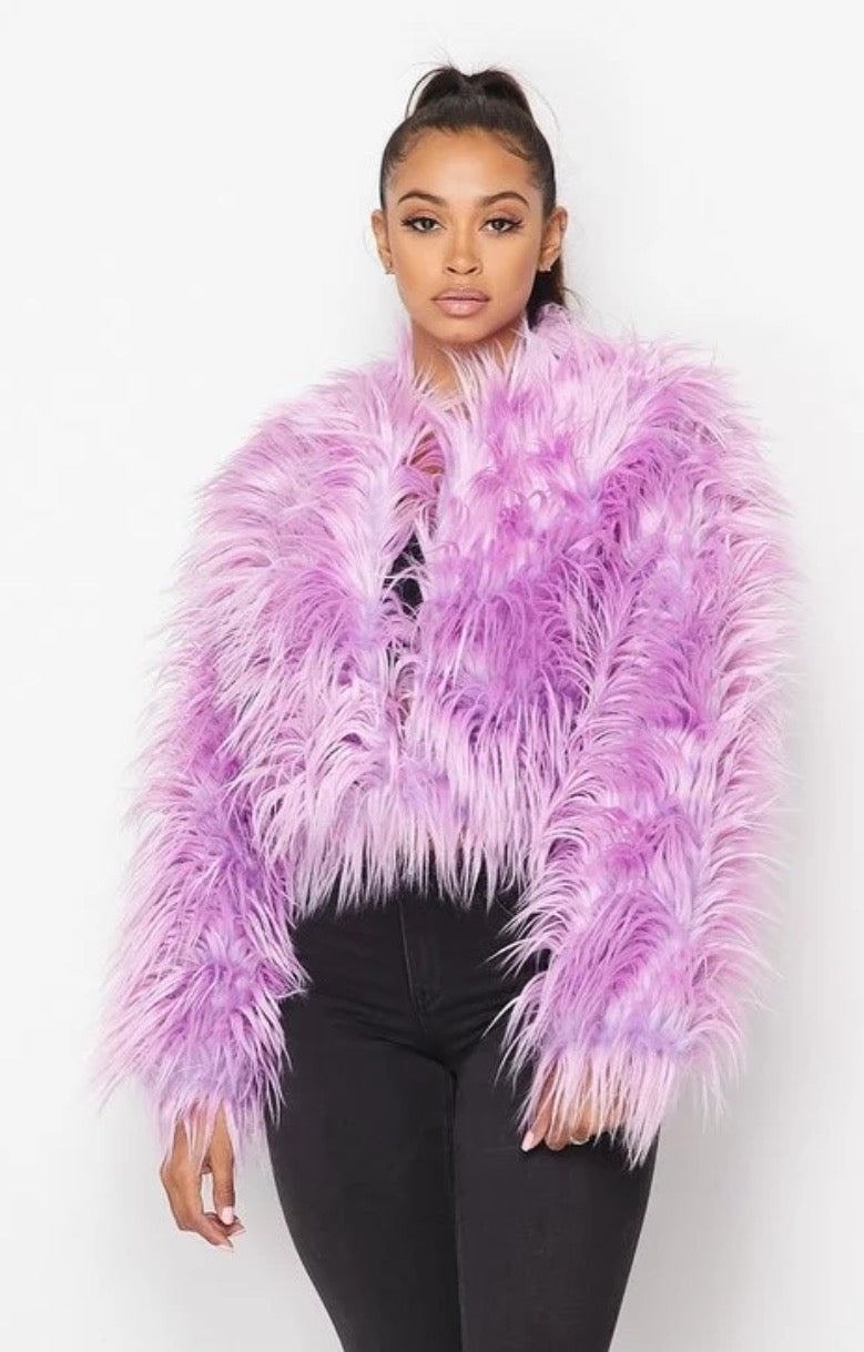 Purple Fur Jacket