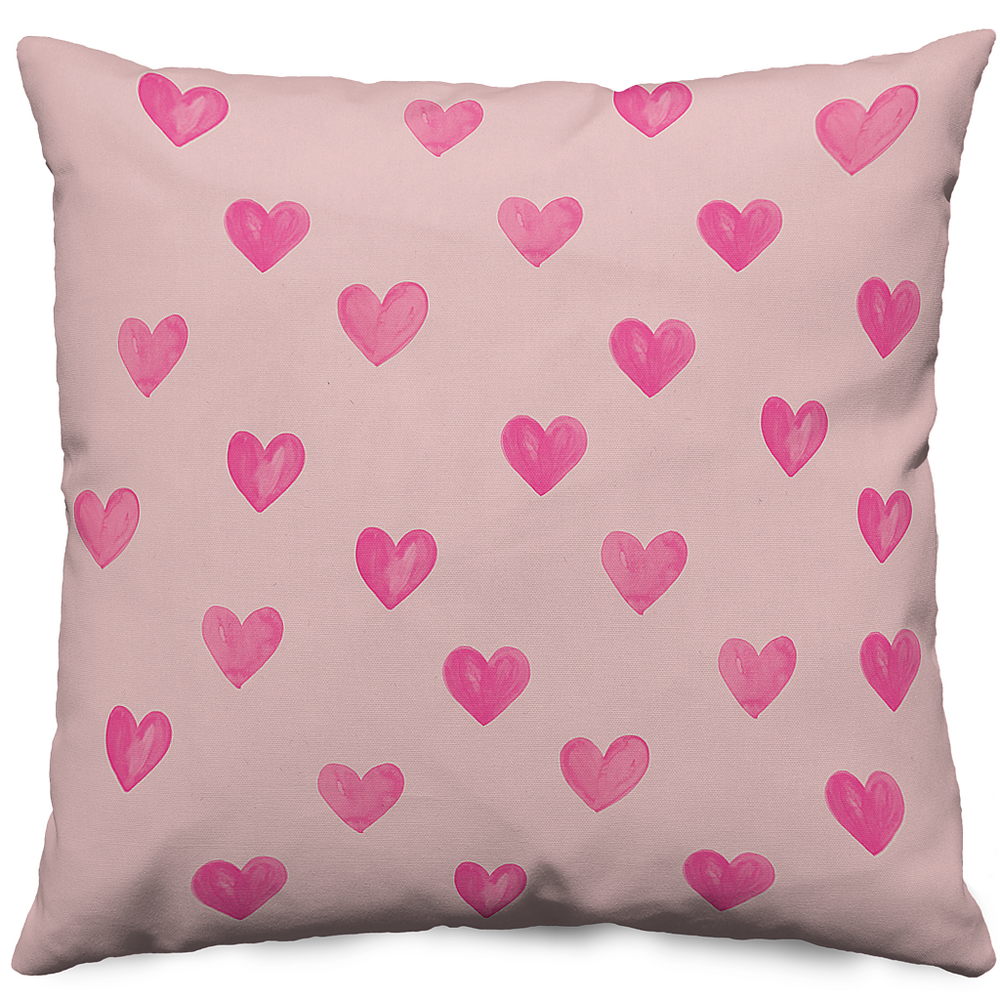 Hearts Pink Pillow