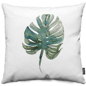 Monstera Palm Throw Pillow