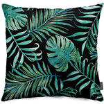 Black Palm Throw Pillow