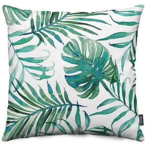 White Palm Throw Pillow