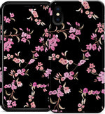 Cherry Blossoms - Black iPhone Case