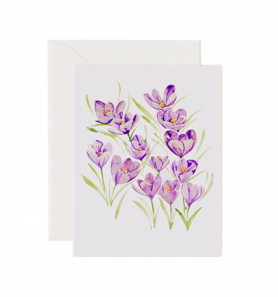 5x7 Notecard - Crocus