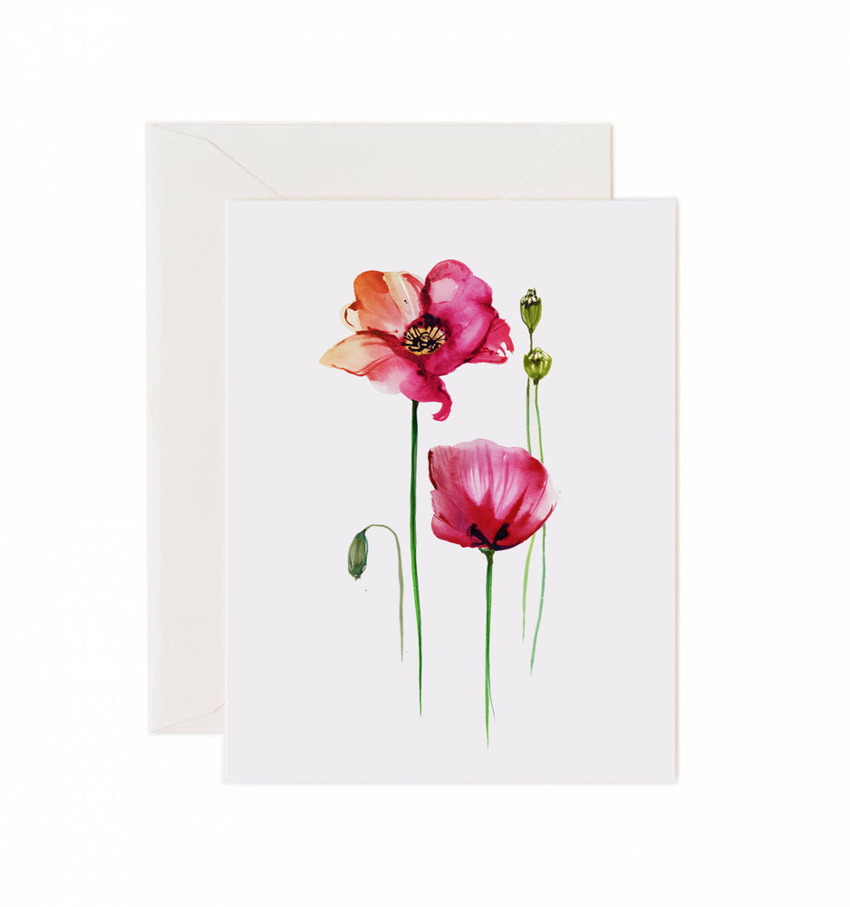 5x7 Notecard - Poppies