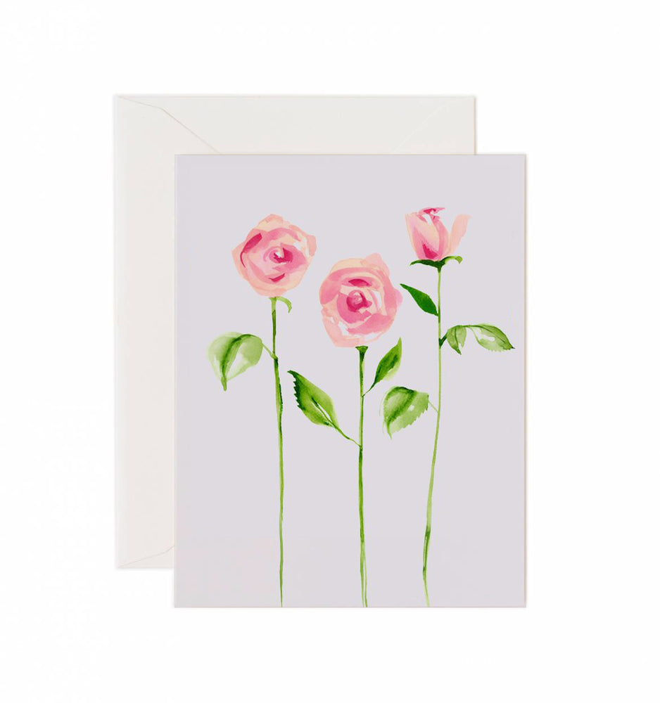 5x7 Notecard - Three Roses