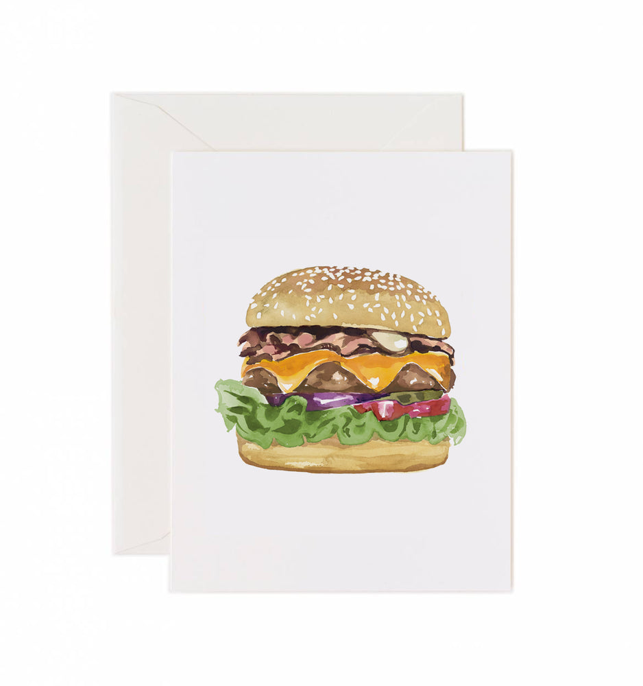 5x7 Notecard - Burger