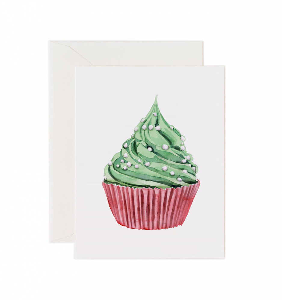 5x7 Notecard - Holiday Cupcake
