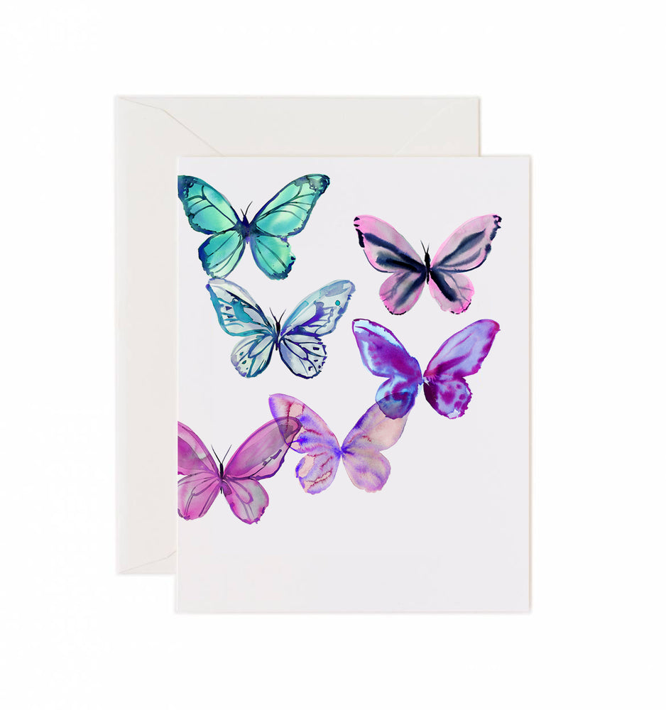 5x7 Notecard - Cloud Butterflies