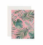 5x7 Notecard - Pink Palm