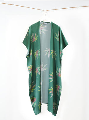 The Mary Jane All Over Green Kimono