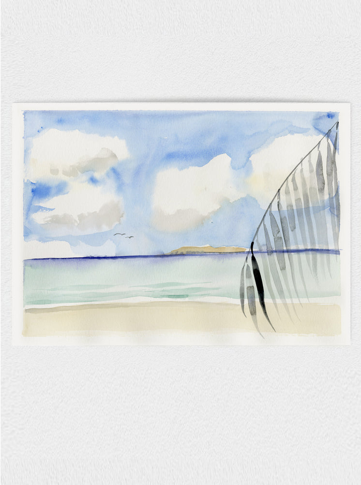 "Beach #6 Original Watercolour Painting - 9""x12"""