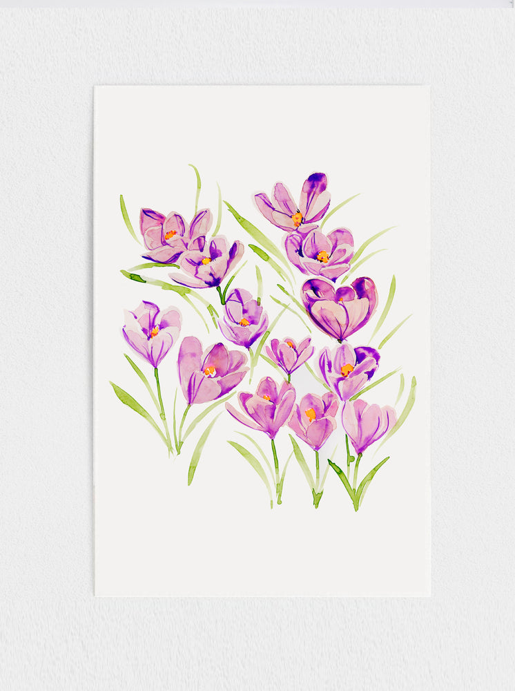 11x17 Crocus Original Painting