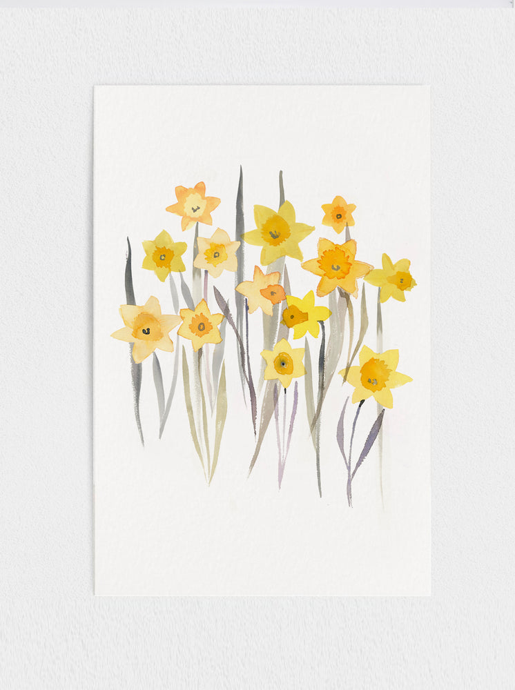 11x17 Daffodil Original Watercolour Painting