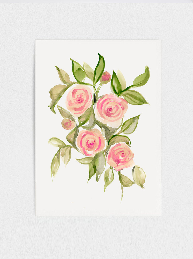 "Gypsy Roses Original Watercolour Painting - 11"" x15"""