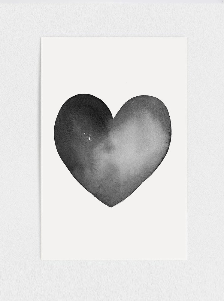 Load image into Gallery viewer, Black Heart Print