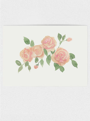 "Tea Roses #1 Original Watercolour Painting - 9""x12"""