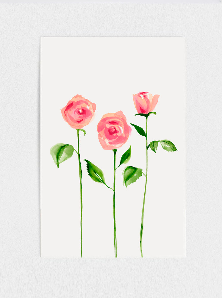Load image into Gallery viewer, Three Roses Print