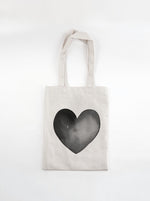 Market Tote Bag | Black Heart