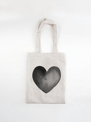 Load image into Gallery viewer, Market Tote Bag | Black Heart