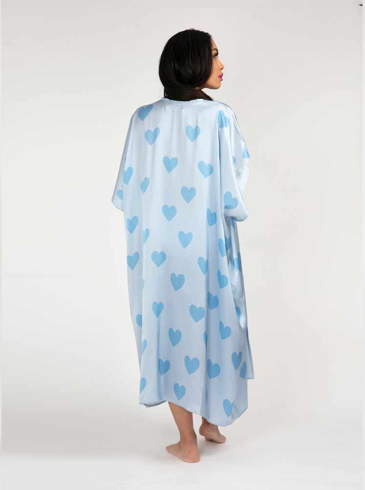 Kimono - Blue Hearts All Over