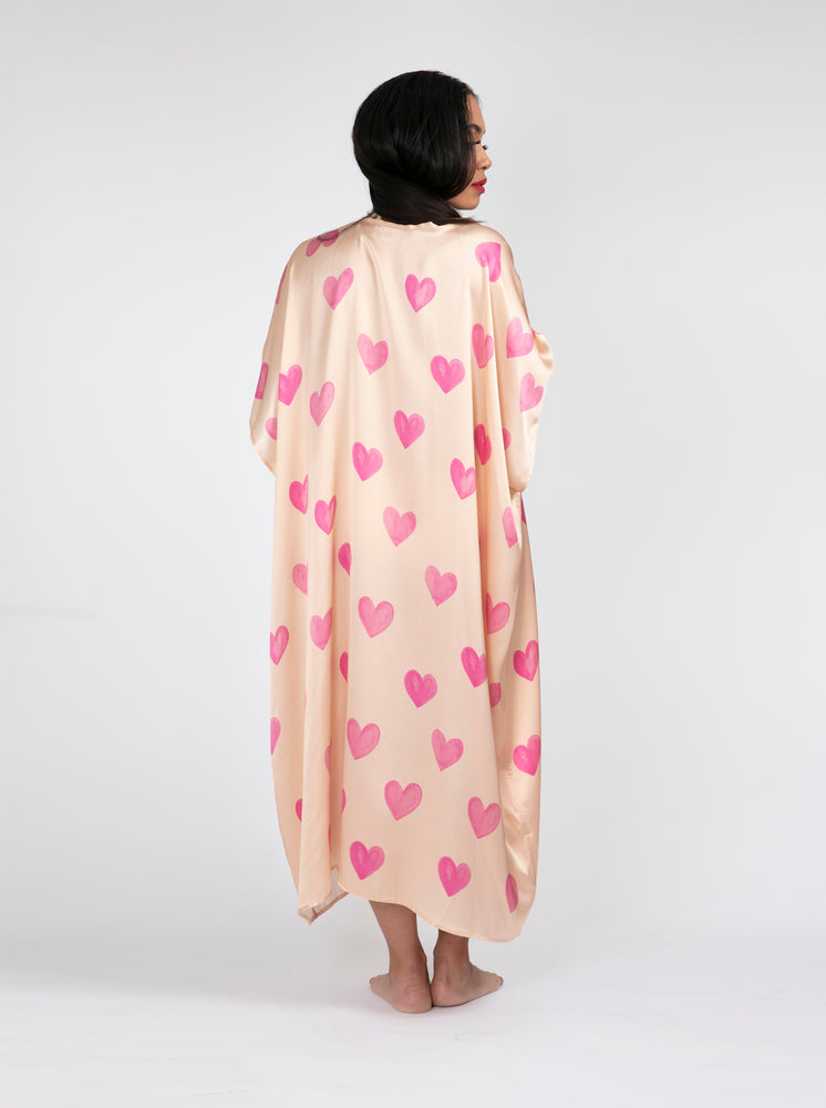 The Blush Hearts All Over Kimono