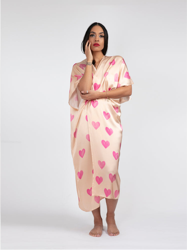 Kimono - Blush Hearts All Over