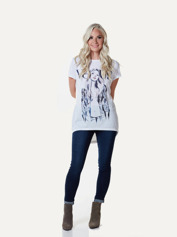 Kate Back Drop Tee