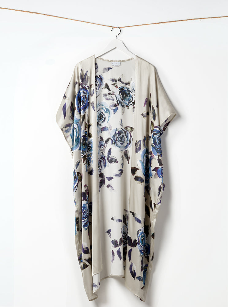 Load image into Gallery viewer, The Champagne Roses Kimono