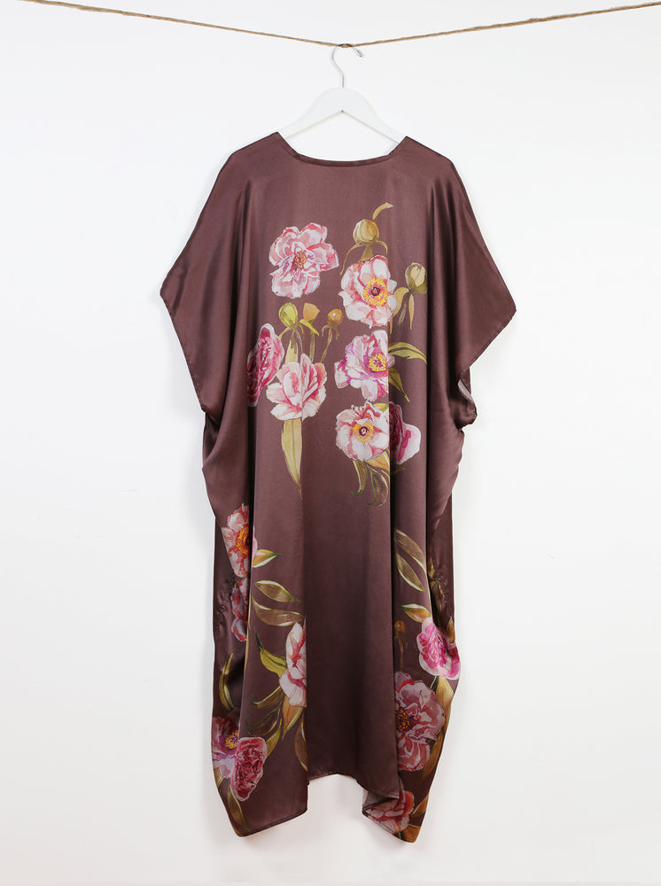 Load image into Gallery viewer, The Plum Peony Duster