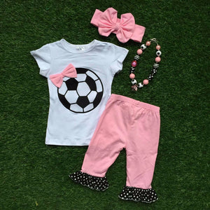 Ensemble 4 pièces Football Rose