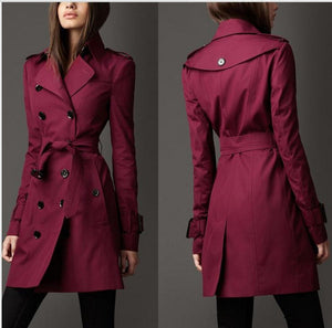Trench Manteau Long Coupe-Vent