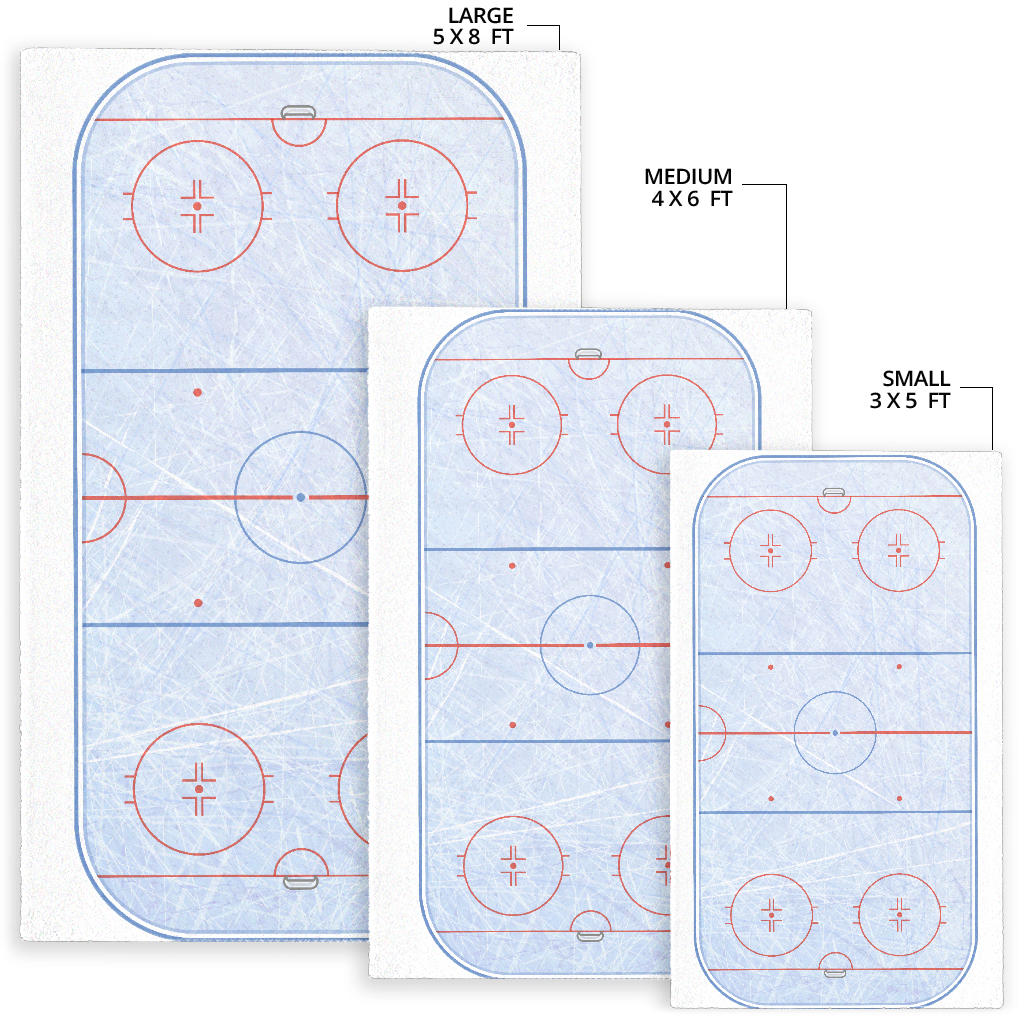 Hockey Rink Area Rug Tee 24h High Quality Personalized Shirt