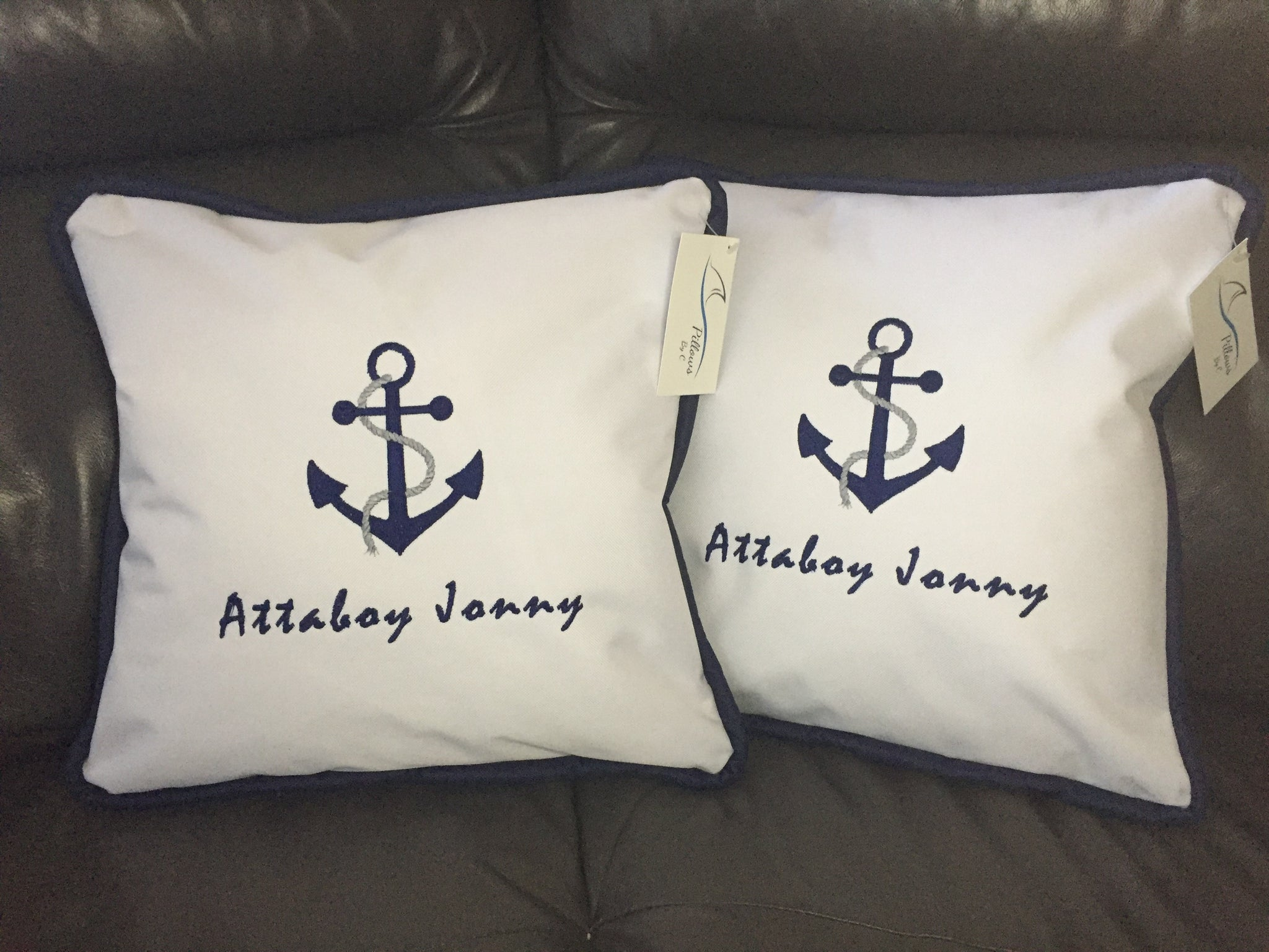 ... Outdoor Boat Pillow   Anchor Design With Your Boatu0027s ...
